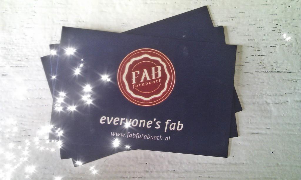 Fab Fotobooth visitekaartjes